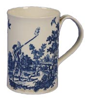 Worcester Gallery - 1st Period Mug c1780