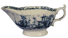 Worcester Gallery - 1st Period Blue and White Sauceboat