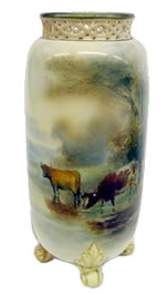Worcester Gallery - Harry Stinton spill vase dated 1907