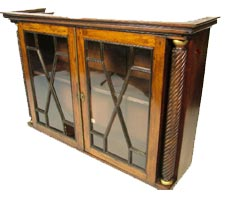 antique furniture - a rosewood astragal glazed cabinet