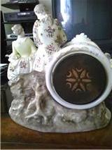 Back of Antique Porcelain Clock
