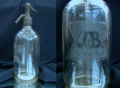 Antique J & B Seltzer Bottle