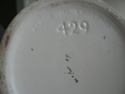 Antique White Vase Mark - Made in England 429