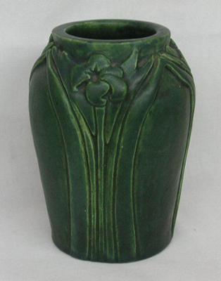 Arts & Crafts Vase Signed KE or RE