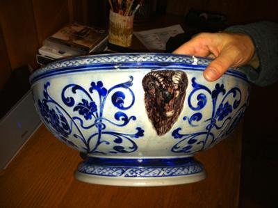 Stoneware Bowl Decoration