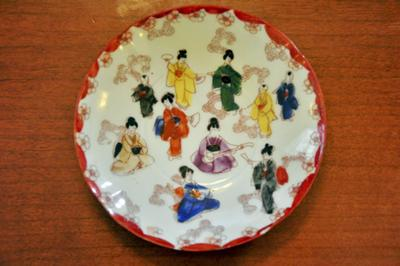 Chinese saucer decoration