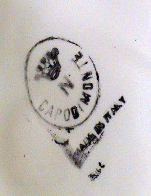 Capodimonte makers marks.