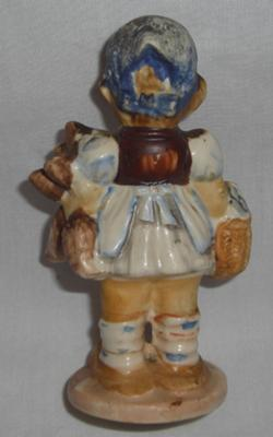Rear view of Hummel Girl Figurine