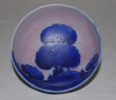 Inside of Moorcroft bowl