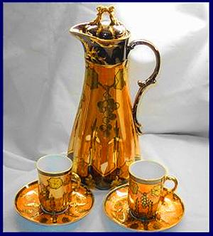 Antique Limoges Cocoa Set