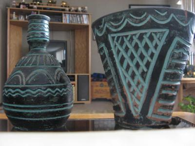 Close view of Other Two American Indian Pots