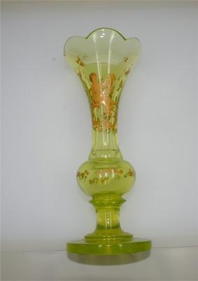 german-green-glass-vase