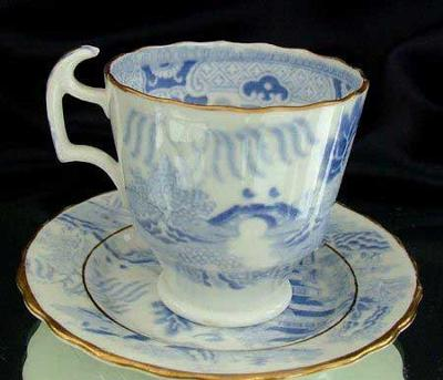 Side View of Cup and Saucer