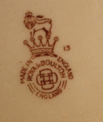 Royal Doulton Platter Seal