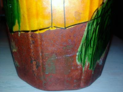 View of Rough Rust Vase Color