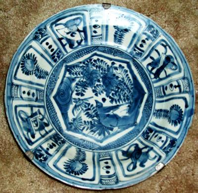 Ming Wanli Blue & White Kraak Charger Decoration
