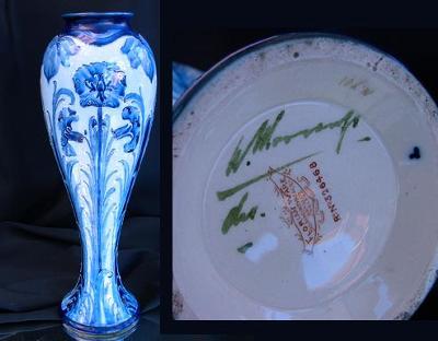 Signed William Moorcroft florian Ware Vase