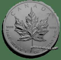 Canadian Silver Coins - 1oz Maple Leaf