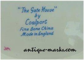 Coalport Marks - Bone China Script Mark on Miniature Cottage