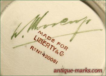 Moorcroft Pottery Mark with Liberty & Co retailer mark
