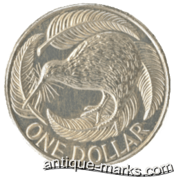 New Zealand Silver Coins - One Dollar