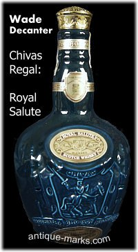 Wade Decanter - Chivas Regal Royal Salute Blue