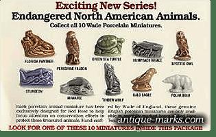Wade Red Rose Tea Endangered Animals Series