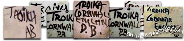 Troika Pottery Marks